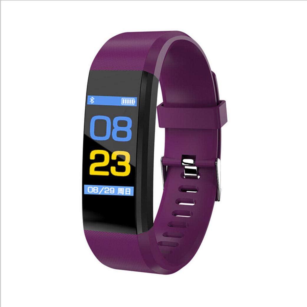 Lovewe Fitness Tracker, Activity Tracker Watch with Heart Rate Monitor, Waterproof Smart Fitness Band with Step Counter, Calorie Counter, Pedometer Watch for Kids Women and Men, Android iOS (Purple)