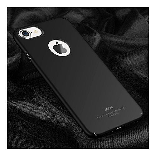Noir PC Plastique Coque Etui Housse Case et Protecteur écran Pour Apple iPhone 7 MSVII® JY00001