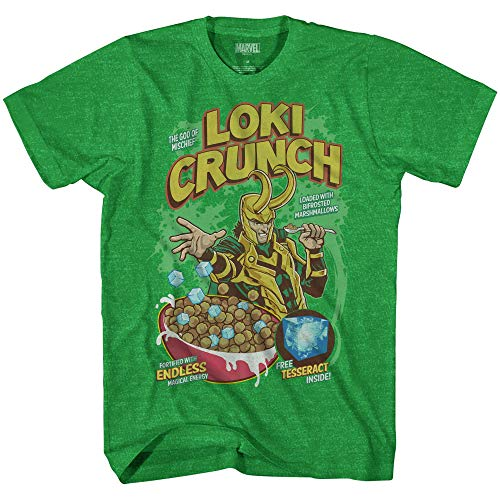 Marvel Loki Charms Cereal Thor Avengers Comics Adult Mens Graphic Tee T-Shirt