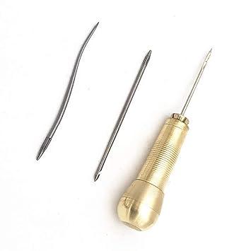 Herramienta de reparación de zapatos, 3 agujas de cobre