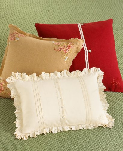 (RALPH LAUREN Embroidered POST ROAD Floral DECORATIVE PILLOW)