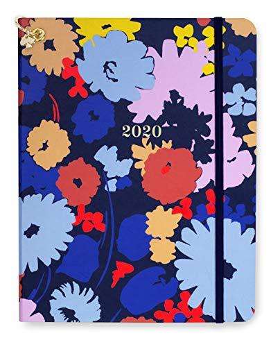 "Kate Spade New York 12 Month Large Hardcover Annual Planner, January 2020 - December 2020 with Daily, Weekly, Monthly Spreads, 8"" x 6.5"", Swing Flora"