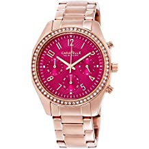 Caravelle New York Women's Quartz Stainless Steel Casual Watch, Color:Rose Gold-Toned (Model: 44L223)
