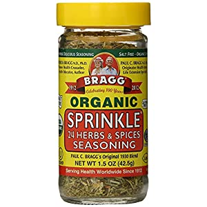 Bragg Organic Sprinkle (24 Herbs & Spices) Seasoning, 1.5  Ounce Bottle 51uCTOjgVRL