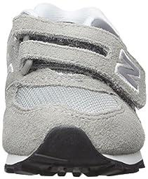 New Balance KV574V1 Infant Core Plus Oxford (Infant/Toddler), Grey/Black, 3 W US Infant