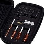 BOOSTEADY Kit de Nettoyage Universel pour Pistolet .22.357.38,9mm.45 Calibre Kit de Brosse et Jag 9