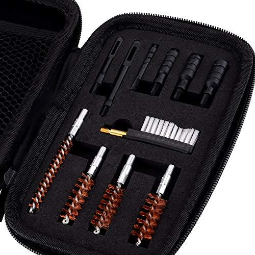 BOOSTEADY Kit de Nettoyage Universel pour Pistolet .22.357.38,9mm.45 Calibre Kit de Brosse et Jag 4