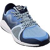 adidas Women's Crazytrain Bounce Cross-Trainer Shoes, Easy Metallic Silver/Tech Blue, (8 M US)