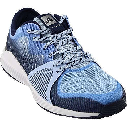 adidas Women's Crazytrain Bounce Cross-Trainer Shoes, Easy Metallic Silver/Tech Blue, (10 M US)