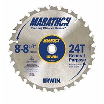 Irwin industrial tools 14050 8 14 inch 24 teeth 58 diamond arbor image unavailable greentooth Images