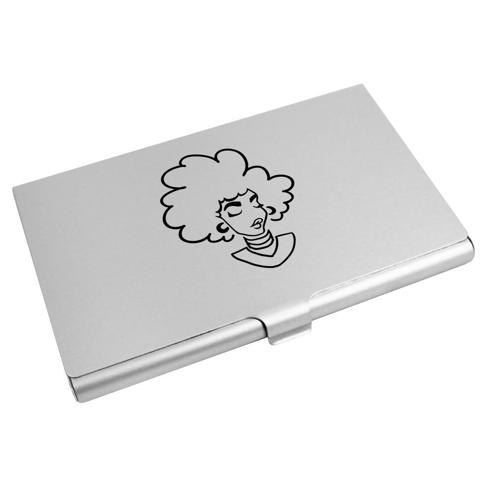 Azeeda 'Woman With Afro' Business Card Holder / Credit Card Wallet (CH00005054)