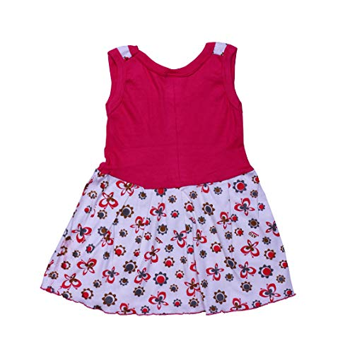 GREEN TEE Baby Girls Cotton Frocks – Pack of 5 (6-12 Months, Multicolour)