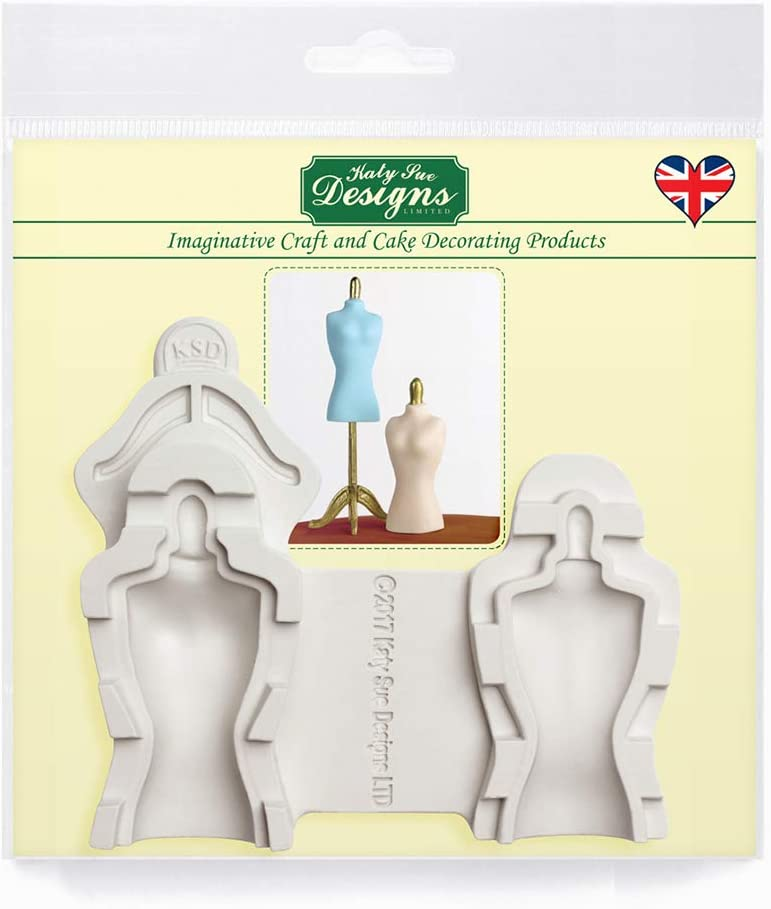 Mannequin Silicone Mold for Cake Decorating, Cupcakes, Sugarcraft, Candies and Clay, Food Safe