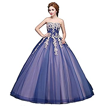 kekafu Princesa Vestido bustier Longitud Piso tul vestido de noche formal con apliques por SG,