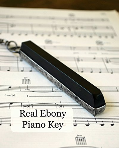 Antique Ebony Piano Key Necklace, Handmade Gift for Musician or Music Lover, Piano Jewelry, Musical Necklace, Music Teacher Gift (2295m) (Christmas Teacher Gifts Homemade For)