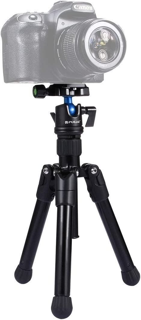 3kg Durable CAOMING Pocket Mini Microspur Photos Magnesium Alloy Tripod Mount with 360 Degree Ball Head for DSLR /& Digital Camera Load Max 24.5-57cm Adjustable Height