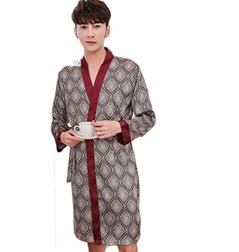 Chemise De Nuit En Soie Robe De Chambre Dhomme Peignoir Satin Robe