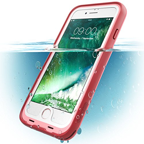 iPhone 8 Plus Case, i-Blason [Aegis] Waterproof Full-body Rugged Case with Built-in Screen Protector for Apple iPhone 7 Plus 2016/iPhone 8 Plus 2017 Release (Pink)