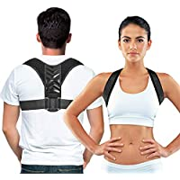 Easy to Adjust Posture Corrector for Men and Women - Improve Your Posture While Sitting At Your Desk - Relief From Neck and Back Pain - Quality Breathable Material