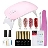 Azure Beauty Gel Nail Polish Starter Kit UV LED Sparkle Glitter Gelpolish with Nail Dryer Lamp Nail Art Set