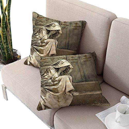Pillowcase Standard Barry - cobeDecor Sculptures Microfiber Pillowcases Grief Cemetery Woman Wedding Keep Throwing Pillowcase 24