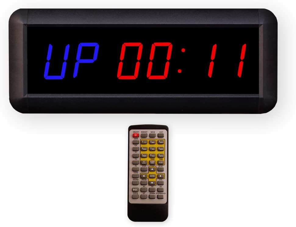 1.5/'/' 6-bit Fitness Training LED Display Timer Home Gym Sport Hanging Stopwatch