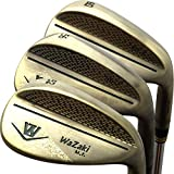 Japan Wazaki Copper Finish M Pro Forged Soft Iron USGA R A rules of Golf Club Wedge Set(pack of three)