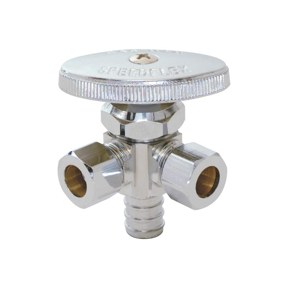 Eastman 04343LF Multi-Turn Dual-Outlet Stop Valve, Chrome