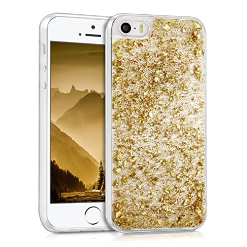 kwmobile-crystal-tpu-silicone-case-for-apple-iphone-se-5-5s-in-design-flakes-glitters-gold-transpare