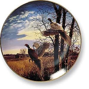 Evening Flight Pheasant By David Maass