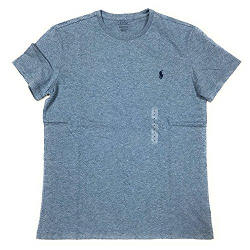 Polo Ralph Lauren Men's Classic Fit Solid Crewneck T-Shirt (XX-Large, Ocean Heather) (Polo Ralph Lauren T Shirts Women)