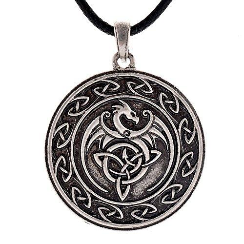 Celtic Dragon Pendant Necklace Unique Chic Dragon Necklace Jewelry