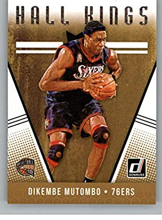 f1a8edd0e 2018-19 Donruss Hall Kings  1 Dikembe Mutombo Philadelphia 76ers Basketball  Card
