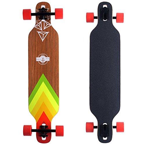 New Brand Fashion Cruiser Through Longboard Sugar Maple Deck 9.5×42″ Skateboard 3 D