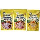 Gerber Graduates Yogurt Melts - Variety Pack of 3 (Strawberry, Mixed Berry, Peach)