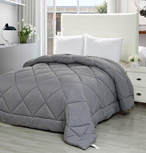Utopia Bedding Queen Comforter Duvet Insert Grey - Quilted C