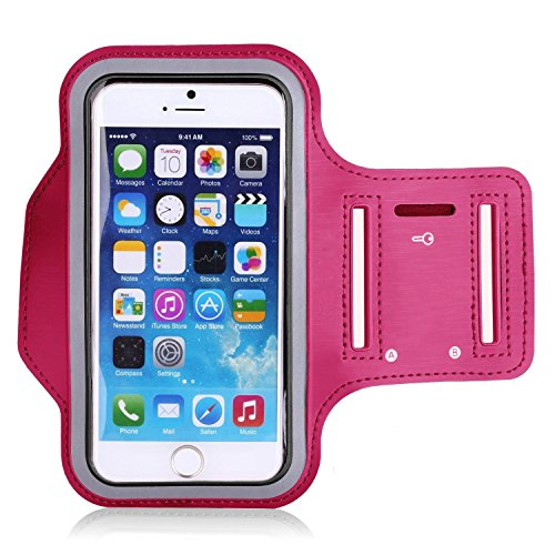 Costumes Iphone (iPhone 7 Plus Armband,Iphone 8 Plus armband,A Trading Fingerprint Touch Supported Running Exercise Gym Arm Band Case for iphone 6/6s/7 plus with Key Pocket (Pink))