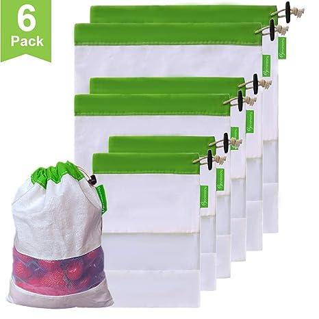 Amazon.com: Btromeshy - Bolsas de algodón reutilizables ...