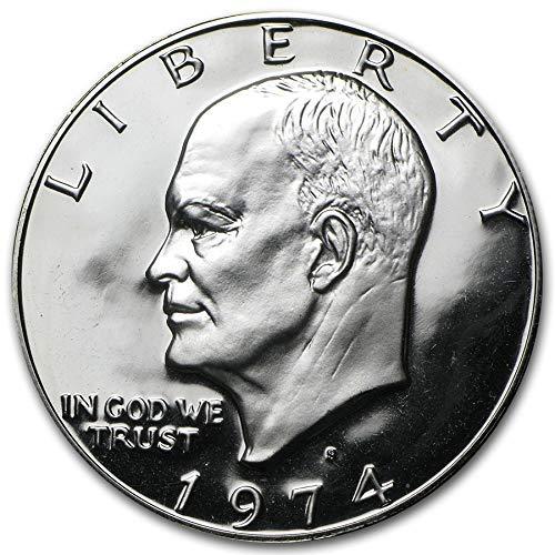 1974 S Proof Eisenhower 40% Silver Dollar (Ike) $1 Brown Box US Mint