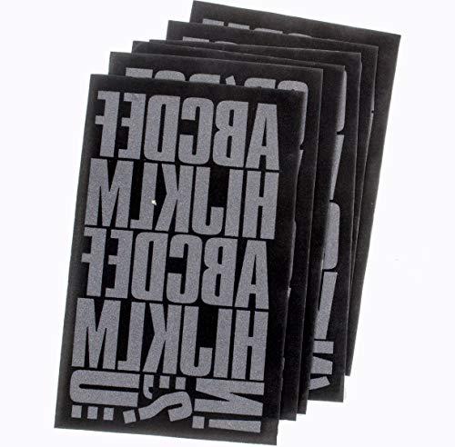 - Sei 2 Inch Block Letter Iron-on Transfer Bundle Pack, Black Flock (Black, 2 Inch)