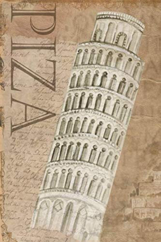 Tuscany Piza Tower: small lined Notebook / Travel Journal to write in (6'' x 9'')