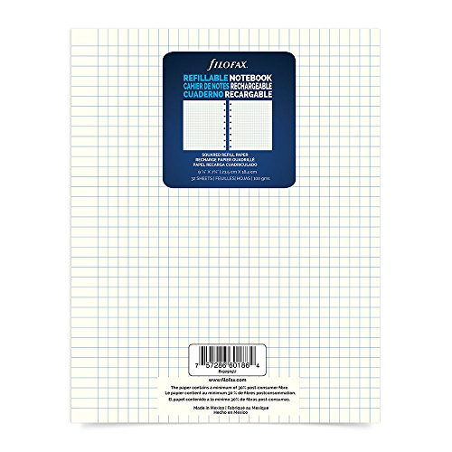 "Filofax Executive Size Refill Squared, Sheets 9.25"" x 7.25"", 64 Ruled Pages (B192905U)"