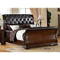 South Yorkshire Queen Tufted Sleigh Bed
