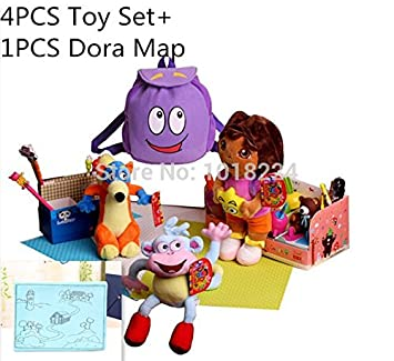 Amazon.com : 4PCS Dora Toys Set with Dora Map Dora the Explorer Doll on