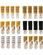 24 STKS Gebreide Stoel Sokken met Leuke Kat Poten Ontwerp 6 Patronen Meubelen Been Caps Anti Scratch Anti-Noise Stoel Been Floor Protectors