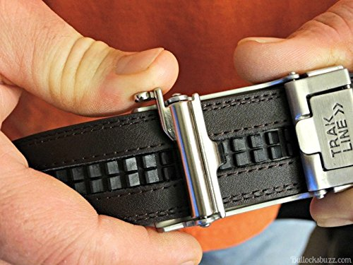 KORE-Mens-Track-Belt-Intrepid-Stainless-Steel-Buckle-Full-Grain-Leather-Belt