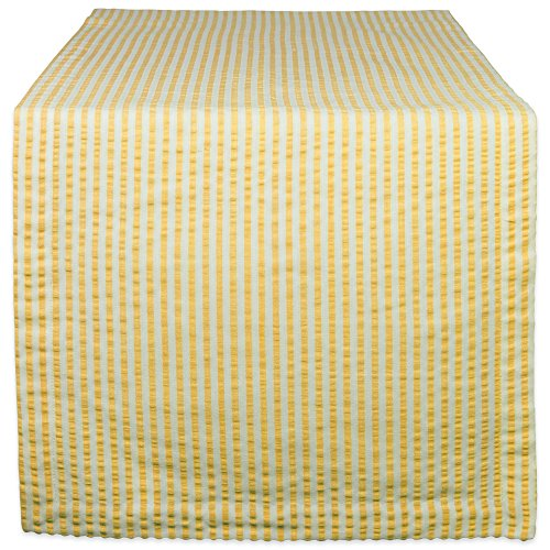 DII Cotton Seersucker Striped for Dinning Room, Foyer Summer Parties and Everyday Use, 14x72