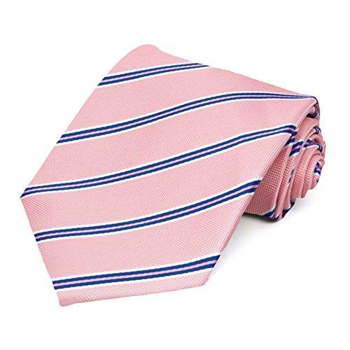 TieMart Vintage Pink Melvin Stripe Necktie
