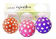 Navika Golf Balls- Assorted Polka Dot (Orange, Pink, Purple) (Sleeve of 3) BLING BALLS