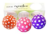 Navika Golf Balls- Assorted Polka Dot (Orange, Pink, Purple) (Sleeve of 3) BLING BALLS